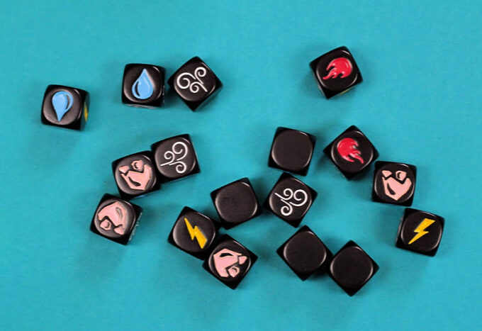 Elements dice for Impact game