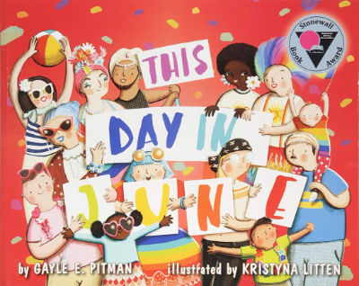 This Day in June book cover showing Pride celebration