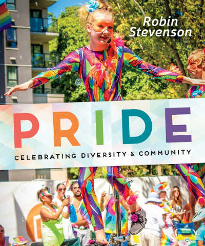 Pride nonfiction book for middle school featuring photos of pride parade