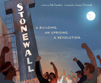 Stonewall picture book cover showing sign and fists in the air