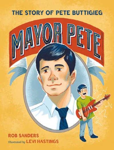 Mayor Pete book cover with face of Pete Buttigieg
