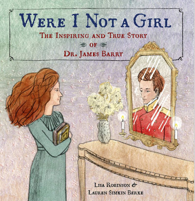 book cover showing woman looking in mirror and seeing a man