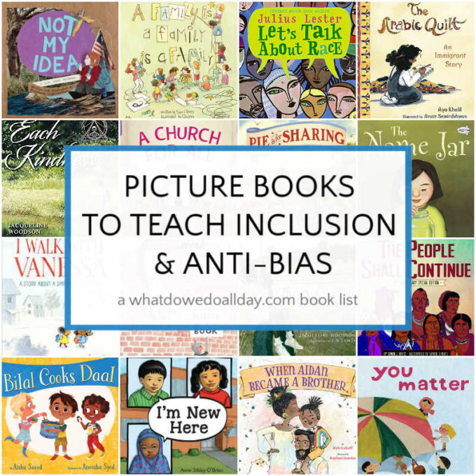 Picture books about inclusion and anti-bias