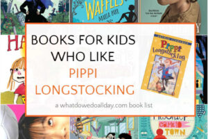 Book covers for titles like Pippi Longstocking