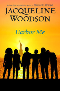Harbor Me book cover silhouettes of teens against NYC skyline
