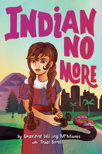 Indian No More book cover with girl with braids in countryside