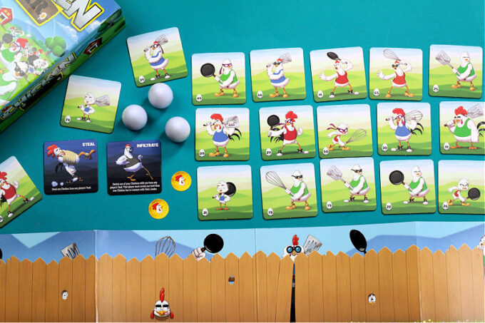 Chicken war card game