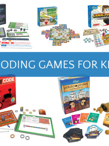 image showing 5 different offline coding games for kids