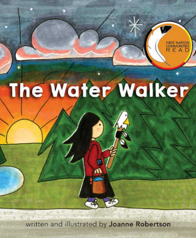 the water walker book cover with woman walking through trees