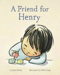 a friend for henry book cover boy with blocks