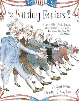 Founding fathers book cover with illustrations of the presidents