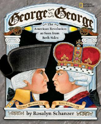 George vs george book cover showing george washington and king george angry at each other