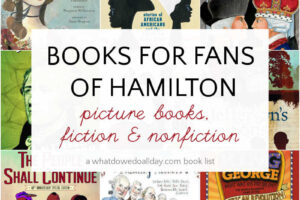 collage of books about america for fans of hamilton