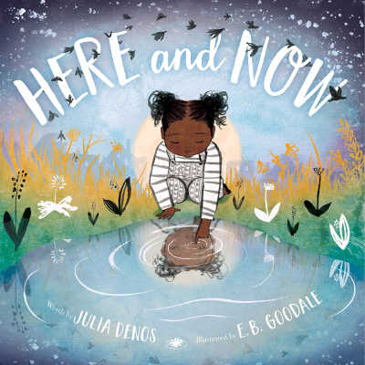 here and now book cover with black child looking at reflection in pool