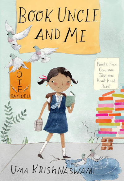Book Uncle and Me book cover showing girl with books