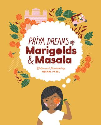 Priya Dreams of Marigolds and Masala book cover with girl holding flower