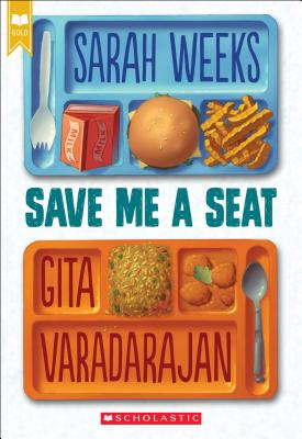 save me a seat book cover showing two lunch trays