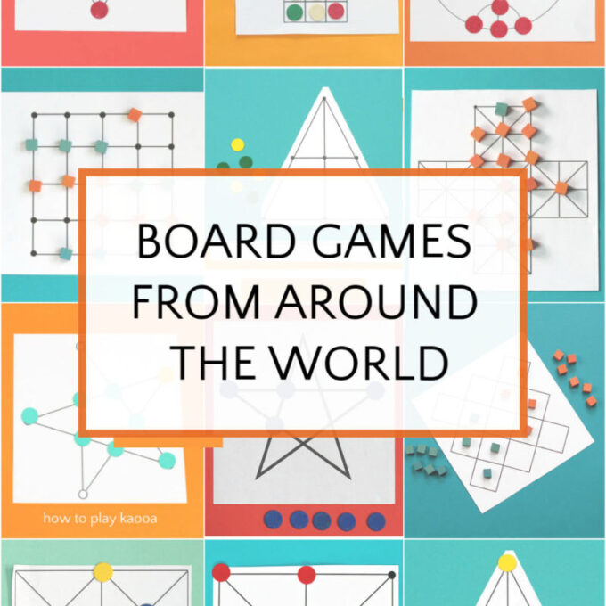 collage of traditional board games