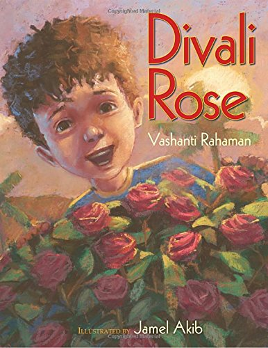 Divali Rose book cover boy with roses