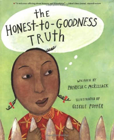 book cover for the honest to goodness truth featuring a black girl
