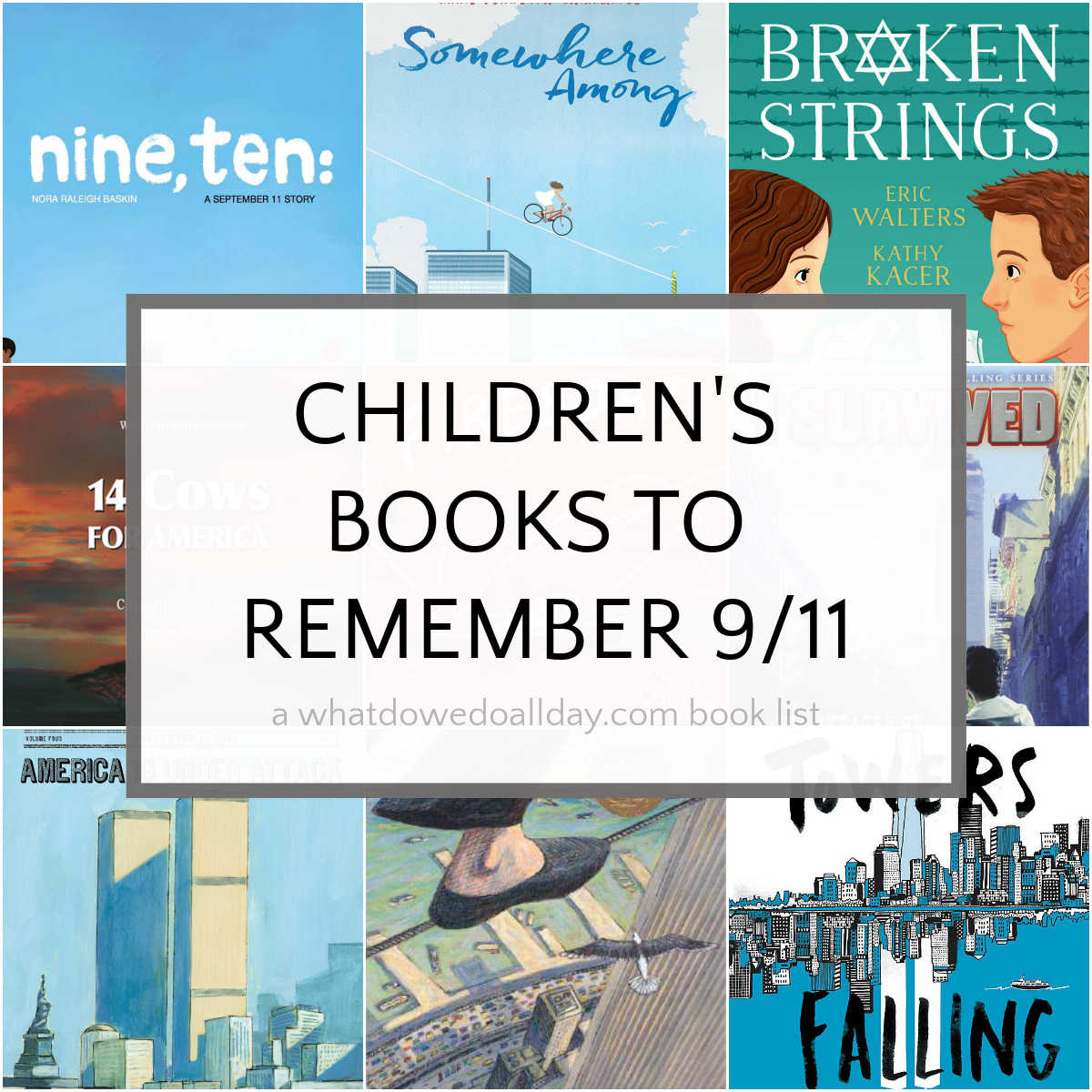 collage of books about 9/11
