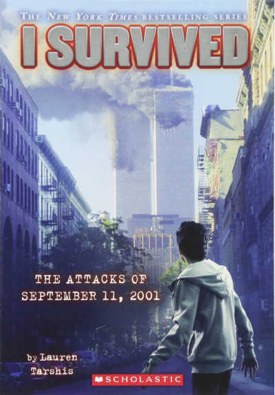i survived book cover with twin towers on fire
