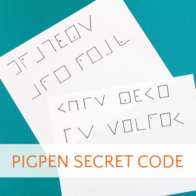 two examples of pigpen code