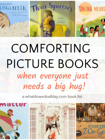 comforting picture book collage of book covers