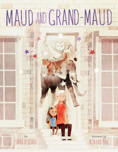 maud and grand-maud book cover with grandmother and granddaughter under imagination animals