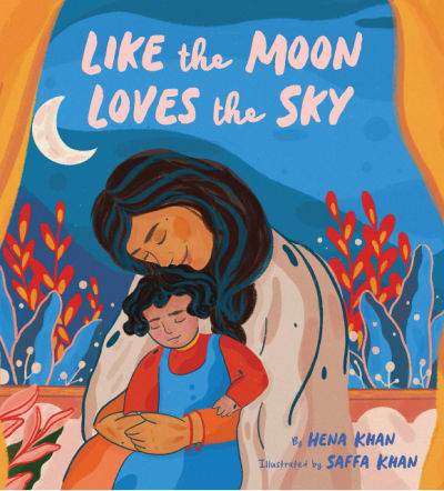 like the moon loves the sky book cover showing mother hugging child