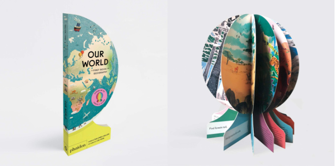 Our world interactive board book that turns into a globe