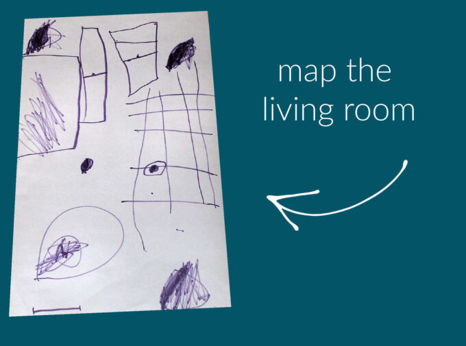 child made living room map
