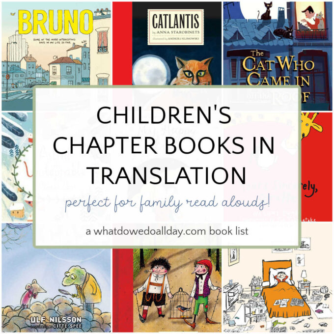 collage of translated children's book covers