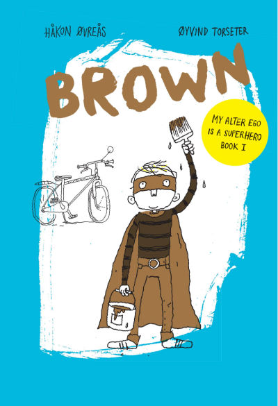 brown book from norway book cover with superhero boy