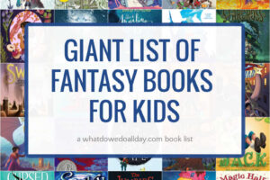 collage of fantasy books for kids