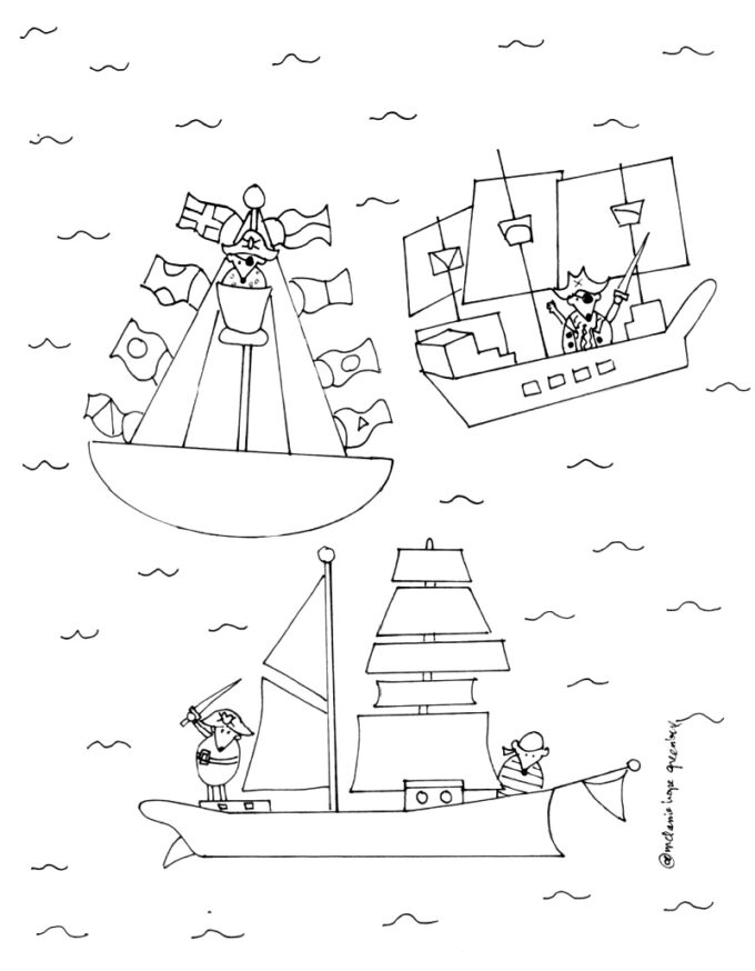 blank pirate coloring page