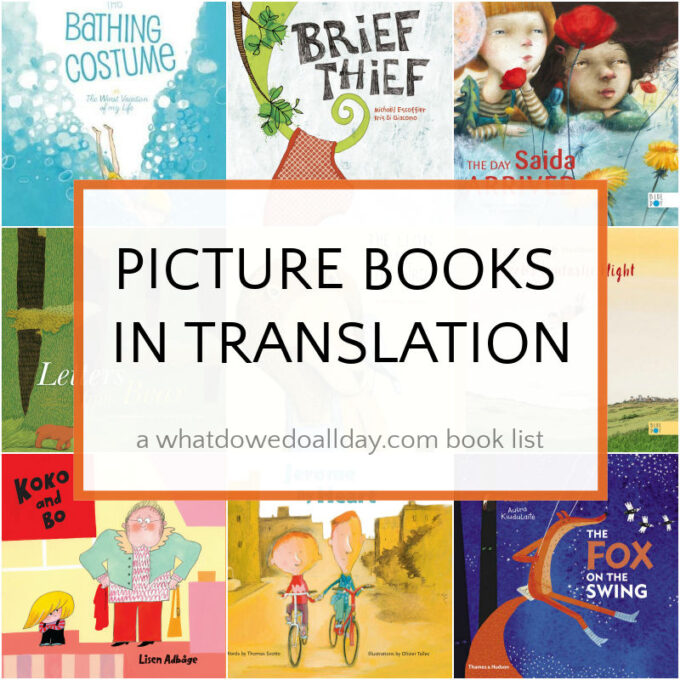 collage of book covers for children's picture books in translation