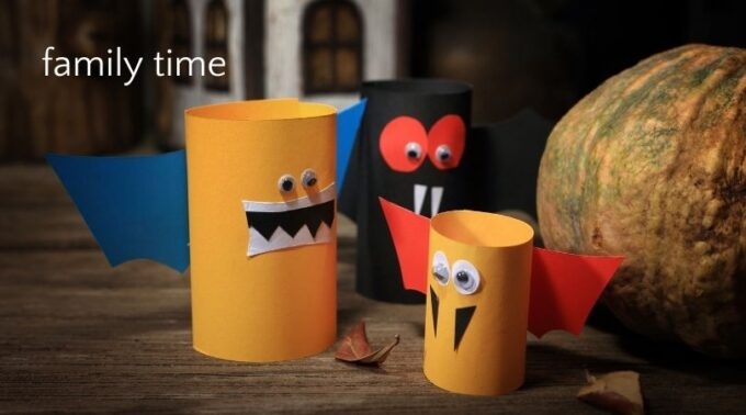 Halloween family time craft monsters