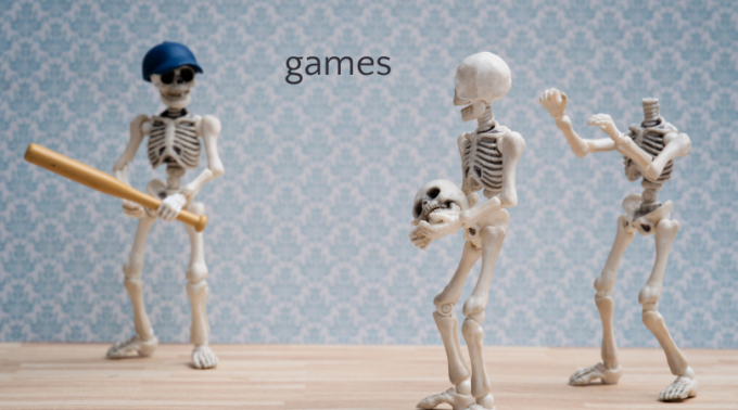 skeletons playing baseball
