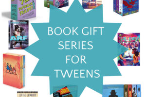 collage of book sets for tweens