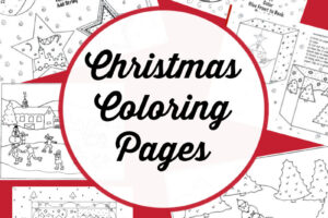 christmas coloring pages collage