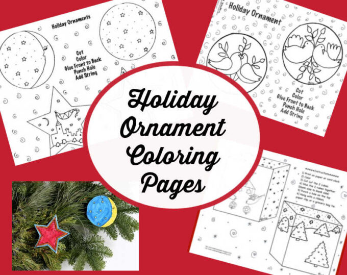 christmas ornament coloring pages collage