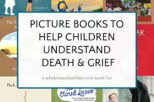 collage of picture books about death