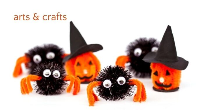 halloween crafts pumpkins and spiders