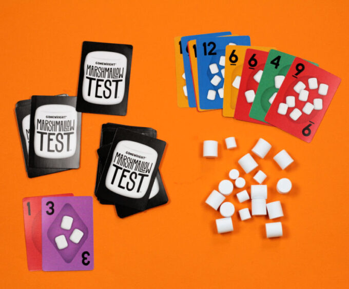 marshmallow test card game by gamewright