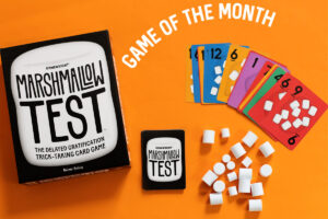 Marshmallow Test card game supplies