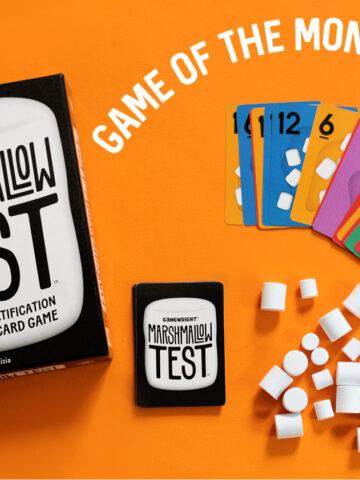 Marshmallow Test card game supplies