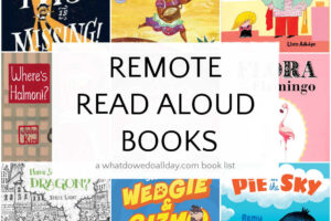 book cover collage of remote read alouds