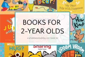 collage of book covers of the best books for 2 year olds