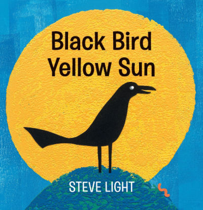 black bird yellow sun baby board book cover